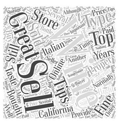 Tips for selling wine word cloud concept vector