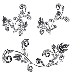 Vintage Floral Ornaments2 vector image vector image