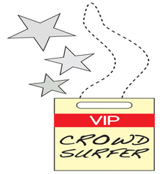 Vip crowd surfer vector