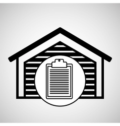Warehouse building check list report icon vector