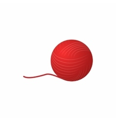 Ball of yarn icon cartoon style vector