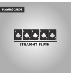 Black and white style straight flush vector