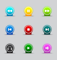 Media buttons icon vector