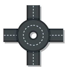 Big road junction icon  flat style vector