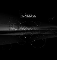 Abstract black technology hud graphic design vector
