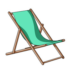 The seat for sunbathing on the beachsummer rest vector