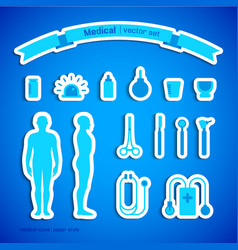 Medical stickers set vector