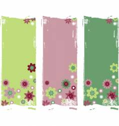 Flower backgrounds vector