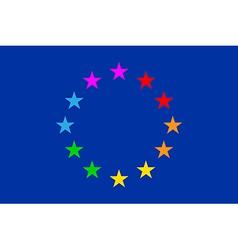European Gay Flag vector image