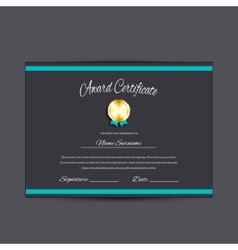 Award certificate vector image