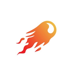 Fire ball logo vector