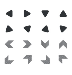 Arrow icon set 5 simple vector image