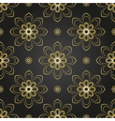 Floral fine seamless golden pattern vector