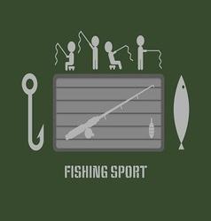 Fishing club badge vector