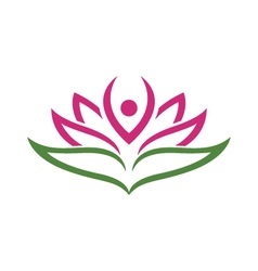 Vs1403 16 lotus flowers design logo template vector