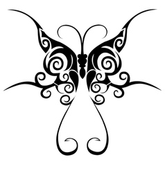 Tribal butterfly tattoo vector