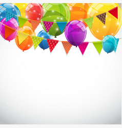 Party background with flags and balloons vector