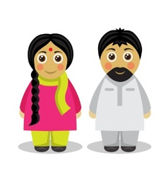 a couple of people from India vector image