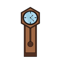 Antique clock icon image vector