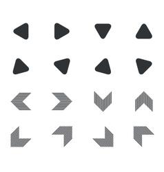 Arrow icon set 5 simple vector