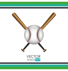baseball icon design vector image