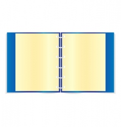 blue notebook vector image vector image