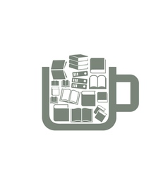 Book a cup vector image