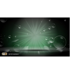 Bubbles splash dazzling effect background 3d vector