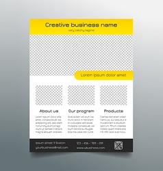 Business flyer template - modern sleek design vector image vector image