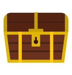 Chest icon flat style vector image vector image