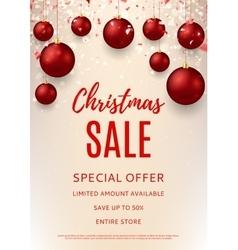 Christmas sale flyer template vector