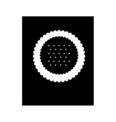 Delicious sweet cookies icon vector