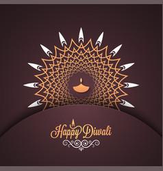 diwali vintage card design background vector image vector image