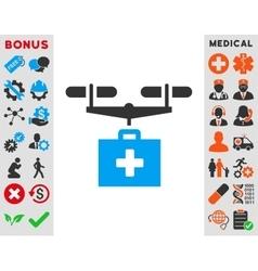Drug Drone Delivery Icon vector image
