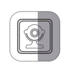 Figure emblem computer camera icon vector