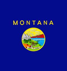Flag of montana usa vector