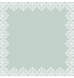 Floral pattern abstract frame vector