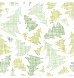 Green Christmas trees silhouettes textile seamless vector image