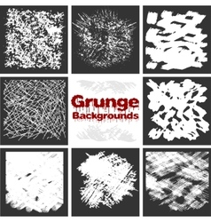 Grunge textures set background vector image