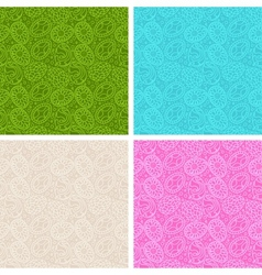 Happy Easter egg seamless patterns set vector image vector image