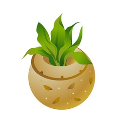 icon flowerpot vector image vector image