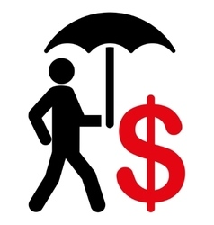 Insurance icon from business bicolor set vector