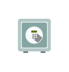 Isolated security flat icon safe element vector