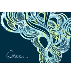 Ocean fluids - abstract blue background vector image vector image