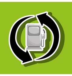 renewable gas isolated icon design vector image