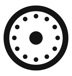 Round military shield icon simple style vector