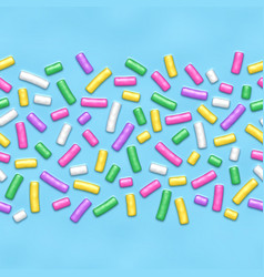 seamless background with many decorative sprinkles vector image