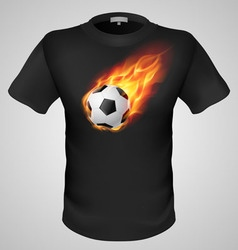 t shirts Black Fire Print man 17 vector image vector image