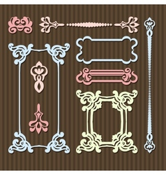 typographic vintage frames vector image vector image
