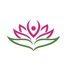 Vs1403 16 lotus flowers design logo template vector